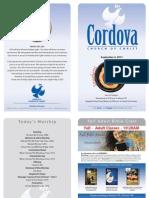 Cordova Church of Christ Bulletin Rancho Cordova September 4, 2011