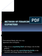 Methods of Financing Exporters