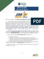 JIM UV 2011. Invitación JIM Power Music