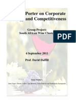 M. Porter on Corporate Strategy and Competitiveness SA Wine Cluster