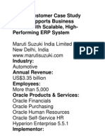 Oracle Customer Case Study Maruti Supports Business Growth With Scalable