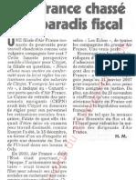 Le Canard enchainé - 2006.12.27 - Air France chassé du paradis fiscal (sa filiale CityJet utilise 130 contrats de travail irlandais pour du personnel basé en France)