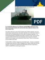 Mv Sinin Believed Pirated in the Arabian Sea