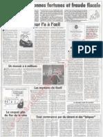 Le Canard enchainé - 2007.03.21 - Le Pen entre bonnes fortunes et fraude fiscale