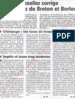 Le Canard enchainé - 2007.03.28 - Bruxelles corrige les comptes (chiffres officiels truqués du chômage et des impôts) de Breton et Borloo