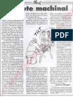 Le Canard enchainé - 2007.03.28 - Risques de truquage des votes électroniques faits par ordinateur