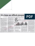 Le Canard enchainé - 2007.04.04 - A la chasse aux milliards planqués des dictateurs