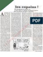 Le Canard enchainé - 2007.04.04 - Salut les copains (Chirac distribue les postes à ses amis avant de partir)