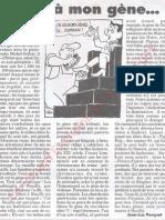 Le Canard enchainé - 2007.04.11 - Parle à mon gène (Sarkozy pense que tendances suicidaires et pédophilie sont génétiques)