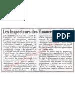 Le Canard enchainé - 2007.04.18 - Les inspecteurs des Finances aux bains (avec l'argent du contribuable)
