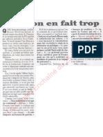 Le Canard enchainé - 2007.04.25 - Eric Besson, le traitre du PS, en fait trop