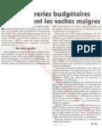 Le Canard enchainé - 2007.05.09 - Des sucreries budgétaires en attendant les vaches maigres