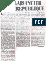 Le Canard enchainé - 2007.05.09 - Le plaisancier de la République (vacances de milliardaire de Sarkozy)