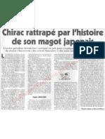 Le Canard enchainé - 2007.05.23 - Chirac rattrapé par l'histoire de son magot japonais