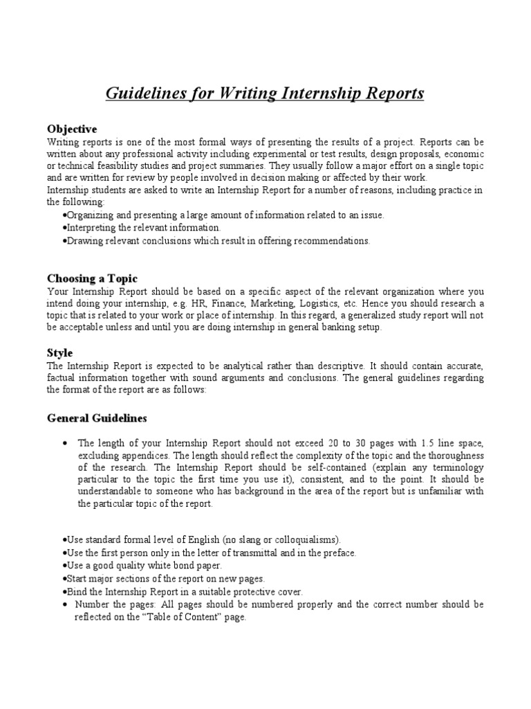 Internship Format   Question (11 views)