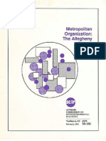 Advisory Commission on Intergovernmental Relations, Metropolitan Organization- The Allegheny County Case (1992)