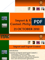 Import and Export Control (2)