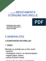 1-_G._Lewin_Medicaments_origine_naturelle_2010-2011_Partie1