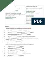 Present Tenses and Articles Lesson - Pre-Intermediate