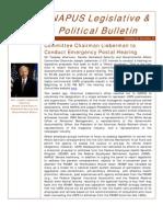 eNAPUS Legislative & Political Bulletin for September 2 2011