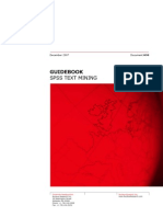 Guidebook -- SPSS Text Mining