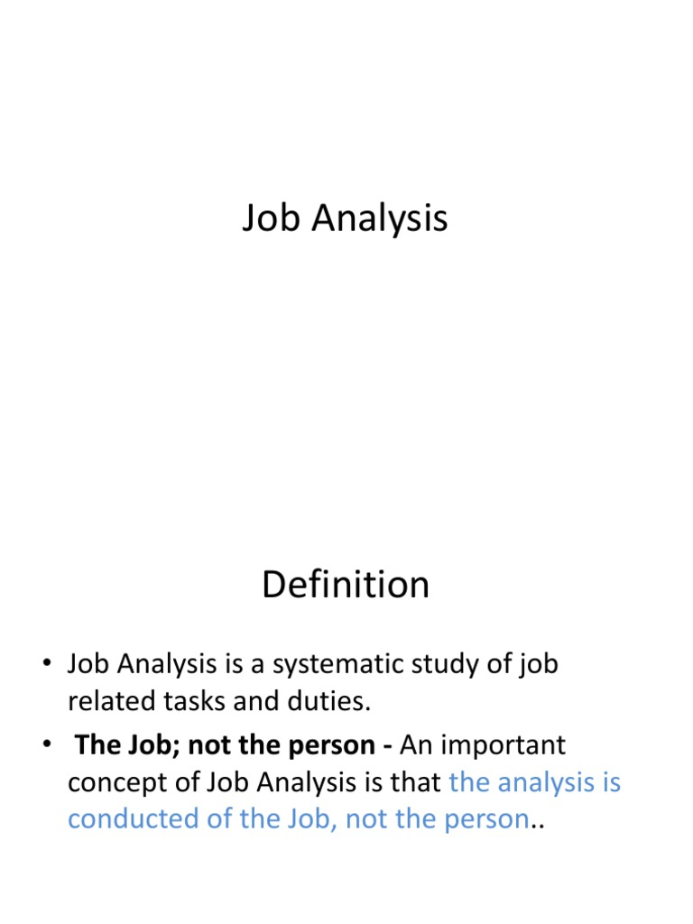 job analysis definition