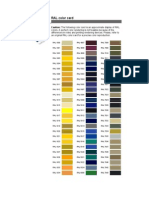 RAL Color Card