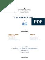 4g Paper Presentation by Nikhil & Pankaj