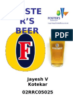 Fosters Beer Presentation