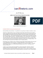 John F. Kennedy - Houston Ministerial Association Address