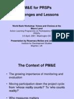 PM&E of PRSPs final