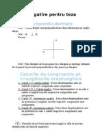 Geometrie - Pregatire Pentru Teza