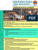HSE Bulletin 17 Unsafe Transportation