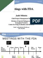 FDA Pre Ind Meetings