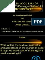 Investigatory Project by Erika Sheane Estera and Jomel Maroma