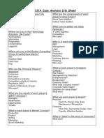 Case Analysis Crib Sheet Bus131