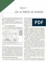 Diseño de Matrices - JR. Paquín
