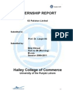 Bilal Internship Report