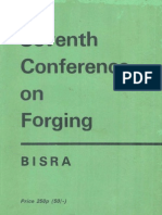 7th Conference on Forging Buxton 1970 - b i s r A
