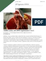 Addio carne, nel 2050 vegetariano 1 su 2 - Photostory Curiosità - ANSA