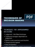 Techniques of Decision Making