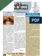 """2011-09-04""""El Conquistador"""" Boletín Semanal de La casa de Todos- Chimbote"""