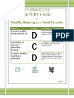Parkdale 2011 Report Card on Health Housing and Food Security