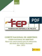 Convocatoria Curso Nacional Jueces 2011- Valdepeñas