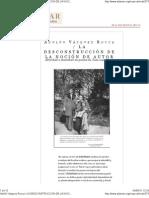 LA DECONSTRUCCIÓN DE LA NOCIÓN DE AUTOR; ALTERIDAD E IDENTIDAD EN LA POESÍA DE JUAN LUIS MARTÍNEZ Por ADOLFO VÁSQUEZ ROCCA PH.D_ Adamar Madrid