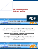 5 Ideas Faciles de Como Optimizar Un Blog