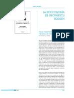 La bioeconomía de Georgescu-Roegen