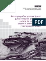 APAL:Guia de mejores practicas en desarme y desmovilización