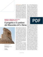 Progetto e Cantiere Mausoleo S Elena