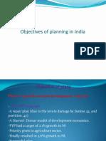 Objective of Economic Plan